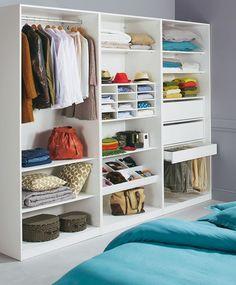 dressing blanc largeur 150 cm darwin placards chambre meuble pas cher et idee rangement. Black Bedroom Furniture Sets. Home Design Ideas