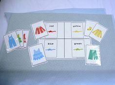 Preschool Speech Therapy Activities: Printable Materials - color sort