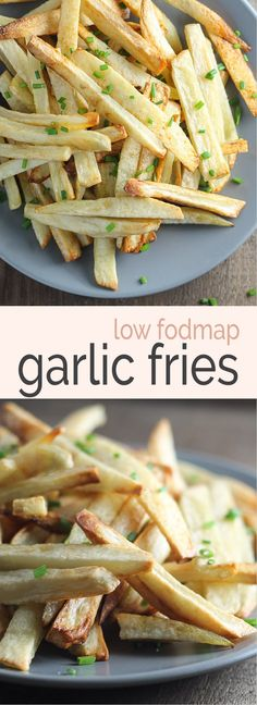 Crisp and delicious, these baked Low Fodmap Garlic Fries use garlic-infused olive oil for a subtle garlic flavor.