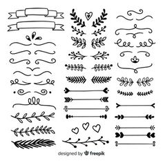 Hand Drawing Doodle Page Decoration Set Stock Vector (Royalty Free) 1539411692 Traditional Tattoo Old School, Traditional Tattoo Flash, Bullet Journal Banner, Bullet Journal Ideas Pages, Bubble Letter Fonts, Full Sleeve Tattoos, Leg Tattoos, Page Decoration, Doodle Pages