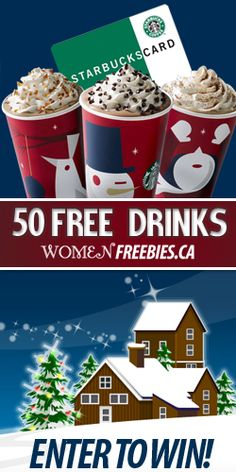 50 FREE Starbucks Drinks GIVEAWAY