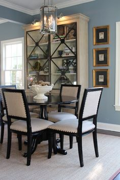 My favorite view of the dining room. Lots of impact and storage.
