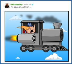 I drew some tweets - The Oatmeal. Kristie Alley: I'm leaving on a jet train