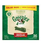 #10: GREENIES Dental Chews Regular Treats for Dogs - Value Tub 36 oz. 36 Count