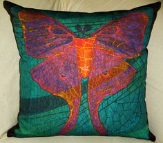 Love this colorful Pillow Cover  BUTTERFLY NOUVEAUX  Fits 18x18 Insert by floorartetc, $55.00