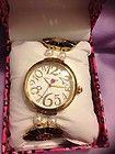BETSEY JOHNSON TIMEPIECES-Black Enamel and Gold-Tone Stretch Bracelet- FreeShipp - http://designerjewelrygalleria.com/betsey-johnson/betsey-johnson-bracelets/betsey-johnson-timepieces-black-enamel-and-gold-tone-stretch-bracelet-freeshipp/