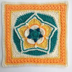 Go starry-eyed for this star within a star that is bordered in star stitch. It's just what you've been looking for. A unique addition to your afghan that will twinkle and shine! paid pattern