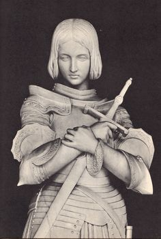 Marble statue of Joan of Arc at Versailles Joan of Arc immortalized in the Place des Pyramides in Paris, - Pesquisa Google