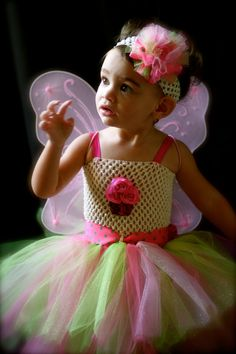 1st Birthday Tutu Dress  Pink and Apple Green by ManaiaBabyDesigns, $34.00