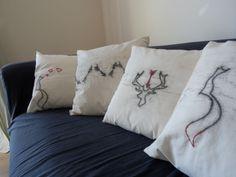 (c) SophieRoseIllustration (c) Rabbit&Rose  Handmade cushions Handmade Cushions, Bed Pillows, Pillow Cases, Rabbit, Amp, Illustrations, Rose, Pillows, Rabbits