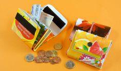 Wir werkeln mit Müll - und zeigen euch, wie ihr leere Getränkekartons mit ein paar schicken Knicken in Geldbörsen verwandelt.