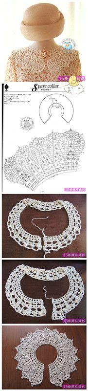 cuello para decorar vestidos ...tutorial..假领子