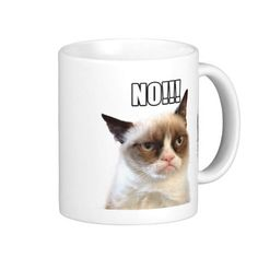 Grumpy Cat™ NO!!! Mug. . For details or ordering click on the image! #GrumpyCatGifts #GrumpyCat #Mug