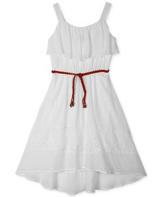 Bcx Girls' Ruffled High-Low Dress Casual Bridesmaid, Bridesmaid Ideas, Dresses Kids Girl, Kids Girls, Dresses Online, High Low, White Dress, Summer Dresses, Outfits