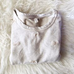 Oatmeal Bow Sweatshirt Lauren Conrad collection petite bow sweatshirt in oatmeal. Size medium, worn a few times, nearly perfect condition. Lauren Conrad Tops Sweatshirts & Hoodies