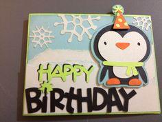 Penguin card from Create a Critter 2 Cricut Cartridge