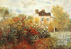 The Artist's Garden in Argenteuil Art Print by Claude Monet at Art.com