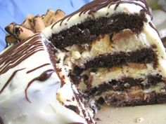 Mile High Cheesecake Layered Chocolate Cake recipe