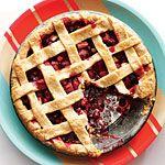 Lattice-Topped Cranberry-Raspberry Pie Recipe   MyRecipes.com