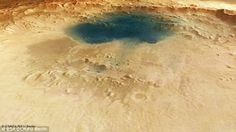 Another view of a mysterious blue pool on Mars