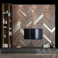 Tv Wall Panel, Wall Panel Design, Tv Wall Design, Office Wall Design, Wall Unit Designs, Living Room Tv Unit Designs, Living Tv, My Living Room, Hall Interior Design
