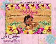 Moana Backdrop, Baby Moana Backdrop, Baby Moana Birthday Backdrop, Baby Moana Theme, Digital