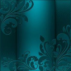 Blue Satin Background with Ornaments