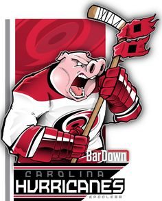 This little piggy went to the bottom of the standings. The Carolina Hurricanes, rendered by epoole88.  Check out his work at epoole88.tumblr.com