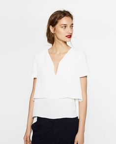 LAYERED TOP-View all-TOPS-WOMAN | ZARA United Kingdom