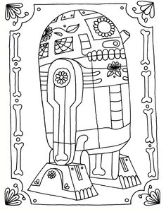 m and m coloring pages | Yucca Flats, N.M.: Wenchkin's Coloring Pages - Dia de los R2D2