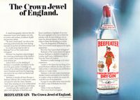 Beefeater Gin There's Only One 1978 Ad Picture
