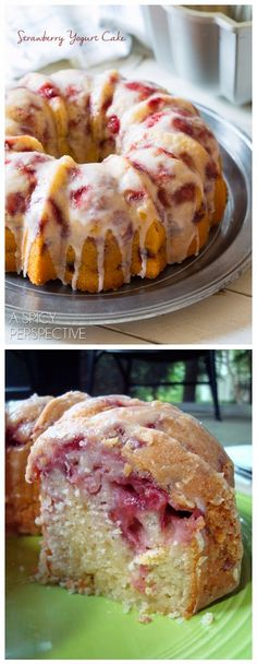 Fresh Strawberry Yogurt Cake   Ingredients:     1 cup (2 sticks) butter, softened  2 cups granulated sugar  3 large eggs  3 tablespoons l...