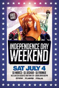 4th Of July Flyer Template - http://xtremeflyers.com/4th-of-july-flyer-template/ 4th Of July Flyer Template   4th of July Flyer Template  4th of July flyer template – Super easy to edit, well organized in folders with names, you can easily change texts, Colors, Add/Remove elements to this layered PSD.  Features  300 DPI CMYK Layered PSD   #flyer #template #psd #poster #event #party #bar #pub #club #advertisement #advertising #4th #july #fourth #independence #day #america #american #usa