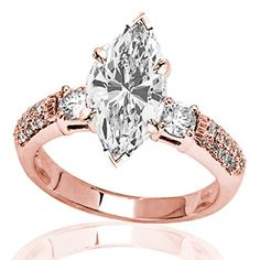 Highest Quality Lowest Price Diamond Pear Shaped Rose Gold Engagement Rings At Engagement Rings Outlet Rose Gold Promise Ring, Promise Rings For Her, Cushion Cut Engagement Ring, Rose Gold Engagement Ring, Titanium Rings, Anniversary Rings, Pear Shaped, Wedding Rings, Diamond