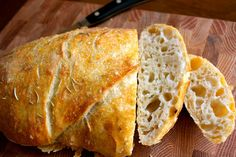 Easy Artisan Bread.  Perfect for dipping in fall soups and stews!   Mrs. Schwartz's Kitchen