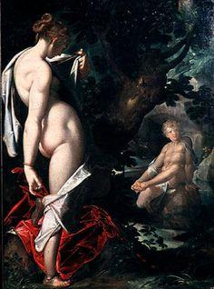 El dios Hermafrodito, unido en el cuerpo a Salmacis, origen de la palabra hermafrodita (Hermes+Afrodita)