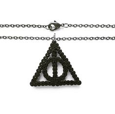 This Harry Potter inspired Deathly Hallows necklace is a must have for all Potterheads! Ive used mini hama beads with black antique coloured
