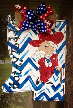7666d76a9c6 Items similar to Hotty Toddy Colonel Reb Rebels Wood Doorhanger Door hanger  on Etsy