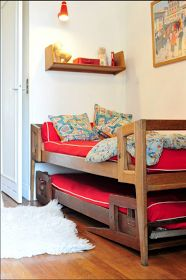 Children's room - Vintage bed - Marcel Gascoin, i like this style trundle, more clearance for extra blankets, pillows etc. so you don't have to find storage somewhere else