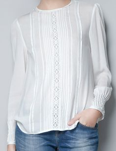 camisa White Blouse Outfit, Shirt Blouses, Shirts, Casual Outfits, Fashion Outfits, Wide Leg Denim, Indian Designer Outfits, Couture, Linen Dresses