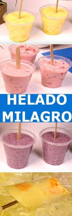 Healthy Desserts, Easy Desserts, Delicious Desserts, Dessert Recipes, Yummy Food, Mexican Ice Cream, Yogurt Ice Cream, Deli Food, Love Eat