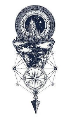 £1.09 GBP - Waterproof Temporary Fake Tattoo Stickers Geometric Mountain Arrow Compass Cool #ebay #Fashion