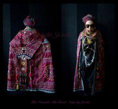 Women Cape/Long Cape/Boho Cape/Gypsy Cape/Silk by Jevda on Etsy, $1200.00