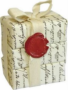 wrapped soap....sealing wax, wonderful presentation!