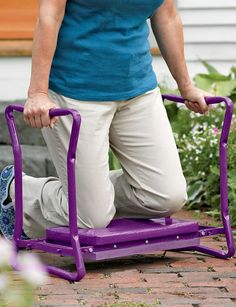 Deep-Seat Garden Kneeler...I use this in my garden and the yard all the time...love it!