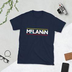 Melanin Martin Font Unisex T-Shirt Shirt Curly Hair, Natural Hair Shirts, Melanin Shirt, Black Girl Magic, Online Boutiques, Culture, Unisex, Mens Tops, T Shirt