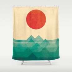 Shower Curtain featuring The Ocean, The Sea, The Wave by Picomodi