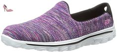 Womens Skechers Aller Marcher 2 Hypo Formateurs 13958 Noir Multi, Noir (bkmt), UK6 - Chaussures skechers (*Partner-Link)