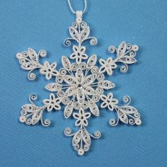 *SNOWFLAKE ~ Quilled