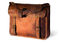 The Classic - Leather Bag / Vintage / Handmade / Messenger Bag / Satchel / Carry On / Briefcase / Shoulder Bag / Laptop / iPad / Hip Bag / Travel Bag / Work / Professional